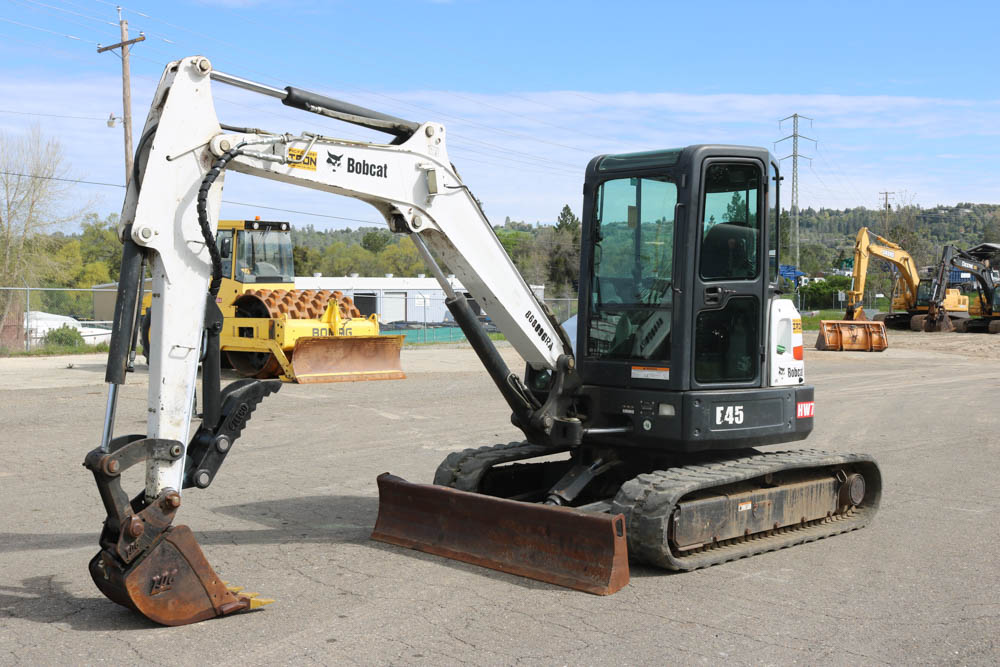 2011 BOBCAT E45 MINI EXCAVATOR-(SOLD) - Pacific Coast Iron